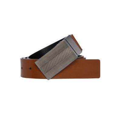 Fashion 4 Men - yd. Uptown Dress Belt Spice Brown/Blk 36