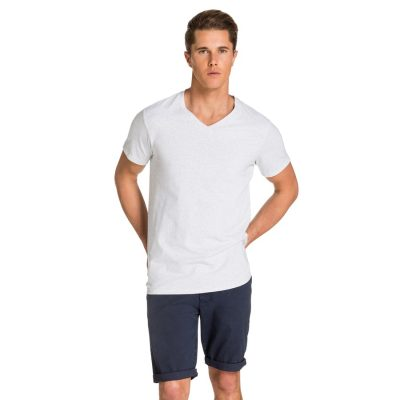 Fashion 4 Men - yd. Vinton Tee Ice Marle 2 Xs