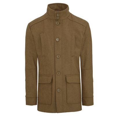 Fashion 4 Men - Tarocash Arden Wool Blend Coat Camel M