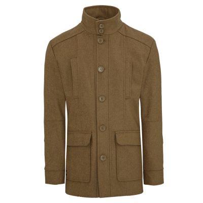 Fashion 4 Men - Tarocash Arden Wool Blend Coat Camel Xxl