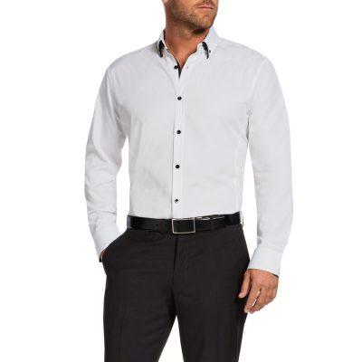 Fashion 4 Men - Tarocash Bailey Textured Shirt White M