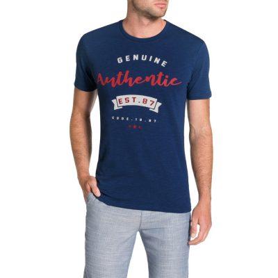 Fashion 4 Men - Tarocash Baseball Tee Blue M