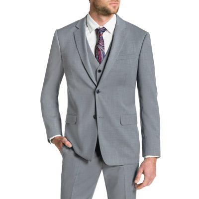 Fashion 4 Men - Tarocash Brosnan Stretch 2 Button Suit Silver 46