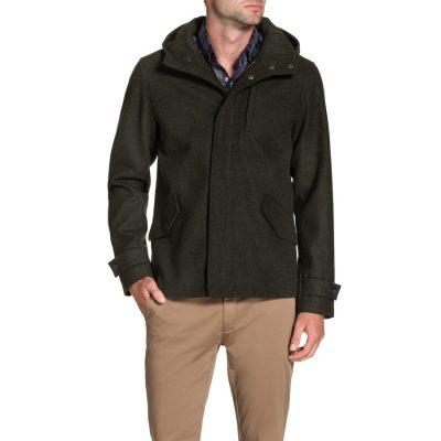 Fashion 4 Men - Tarocash Cardiff Hooded Coat Khaki L