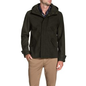 Fashion 4 Men - Tarocash Cardiff Hooded Coat Khaki M