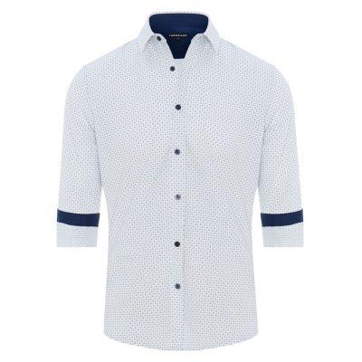 Fashion 4 Men - Tarocash Checker Print Shirt Navy Xl