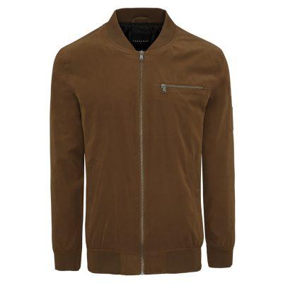 Fashion 4 Men - Tarocash Chewy Bomber Jacket Tobacco S