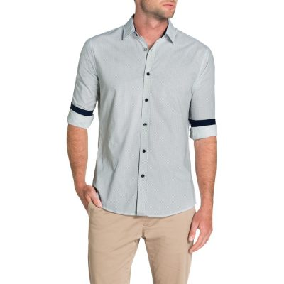 Fashion 4 Men - Tarocash Connor Print Shirt White Xxxl