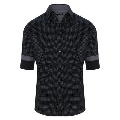 Fashion 4 Men - Tarocash Essendon Print Shirt Black L
