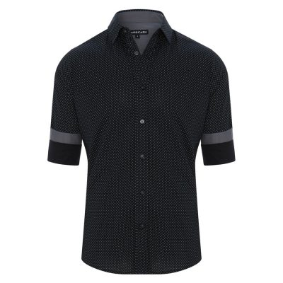 Fashion 4 Men - Tarocash Essendon Print Shirt Black Xl