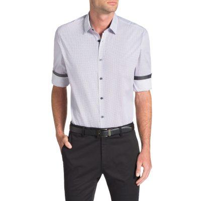 Fashion 4 Men - Tarocash Freemantle Print Shirt Berry Xxl