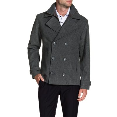 Fashion 4 Men - Tarocash Glasgow Wool Blend Coat Grey Xxl
