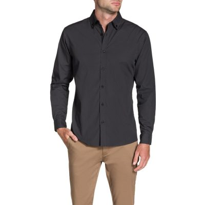 Fashion 4 Men - Tarocash Greg Print Shirt Charcoal M