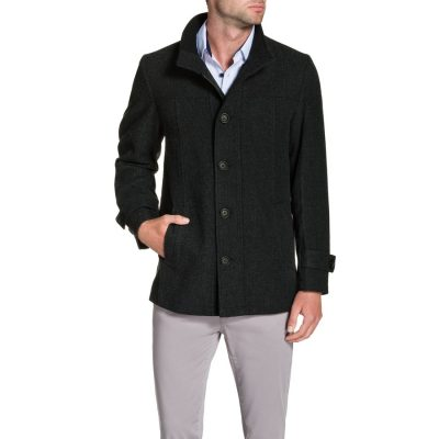 Fashion 4 Men - Tarocash Knightsbridge Wool Blend Coat Charcoal L