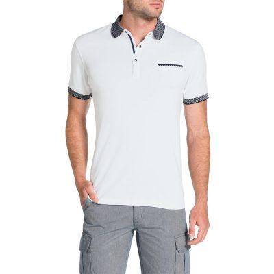 Fashion 4 Men - Tarocash Knit Collar Polo White Xxl