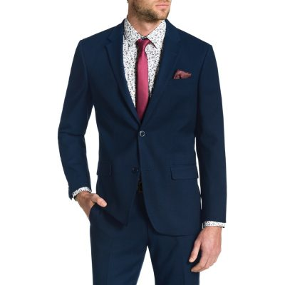 Fashion 4 Men - Tarocash Lewis Stretch 2 Button Suit Navy 48