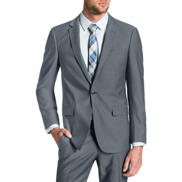 Fashion 4 Men - Tarocash Lincoln 1 Button Suit Pewter 44