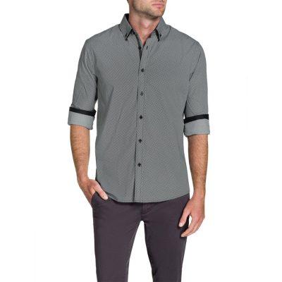 Fashion 4 Men - Tarocash Ray Print Shirt Black L