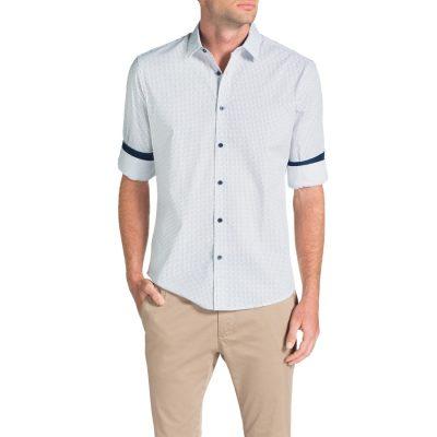 Fashion 4 Men - Tarocash Reynolds Print Shirt Navy 4 Xl