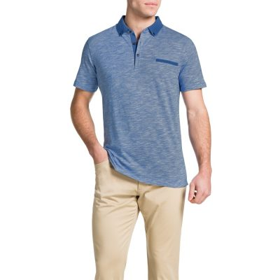 Fashion 4 Men - Tarocash Slub Stripe Polo Sky M
