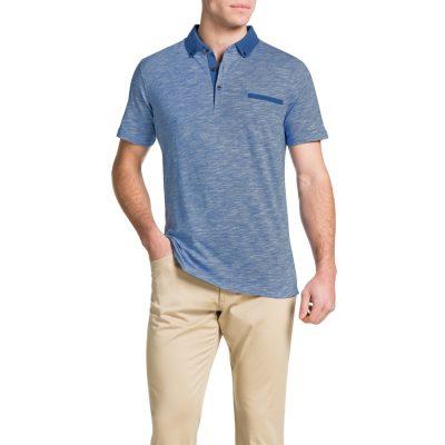 Fashion 4 Men - Tarocash Slub Stripe Polo Sky Xxl