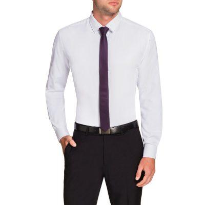 Fashion 4 Men - Tarocash Webster Slim Dress Shirt White Xs