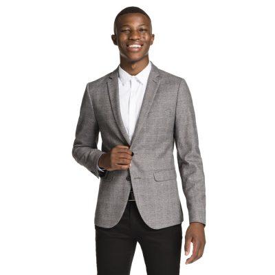 Fashion 4 Men - yd. Ash Check Blazer Charcoal Xxl