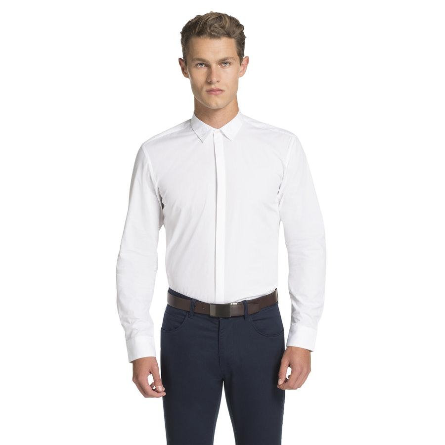 68c16452ec4b yd. Como Ornate Slim Fit Dress Shirt White 2 Xs - Fashion 4 Men