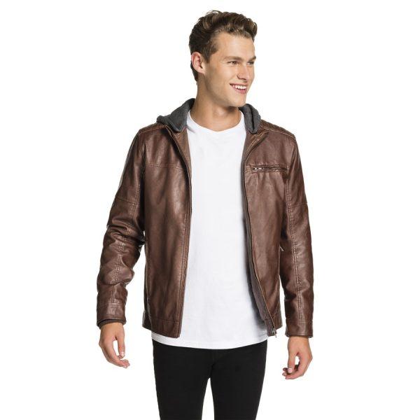 Fashion 4 Men - yd. Hooded Cassan Jacket Brown Xxxl