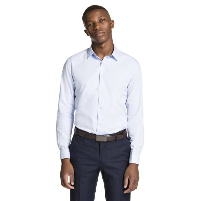 Fashion 4 Men - yd. Lorenzo Slim Fit Dress Shirt Sky S
