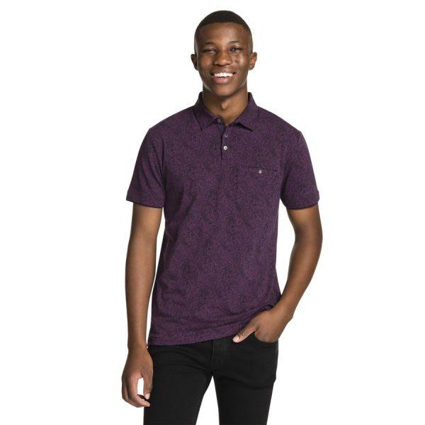 Fashion 4 Men - yd. Memphis Polo Burgundy S