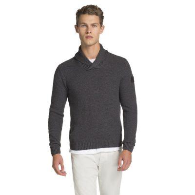 Fashion 4 Men - yd. Milan Shawl Collar Charcoal S