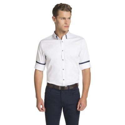Fashion 4 Men - yd. Monaco Slim Fit Dress Shirt White Xs