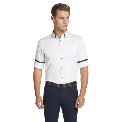 Fashion 4 Men - yd. Monaco Slim Fit Dress Shirt White Xxl