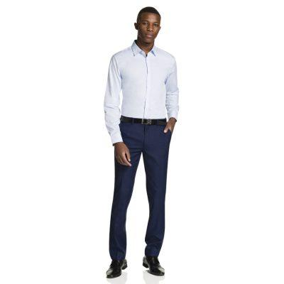 Fashion 4 Men - yd. Paolo Slim Fit Dress Shirt Sky M