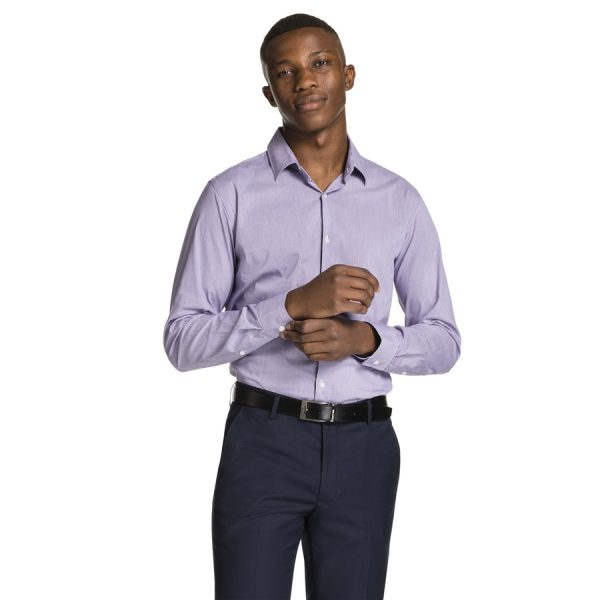 Fashion 4 Men - yd. Parc Dress Shirt Purple Xxxl