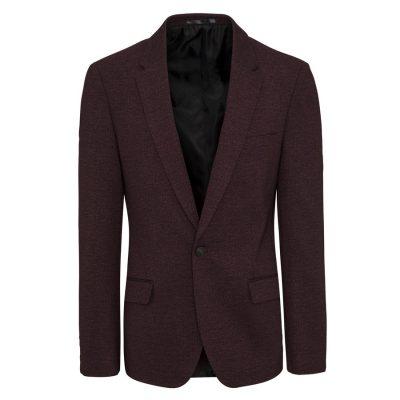 Fashion 4 Men - yd. Ponte Blazer Deep Burgundy Xxxl