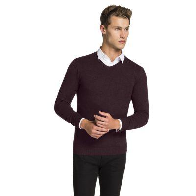Fashion 4 Men - yd. Shay V Neck Burgundy S