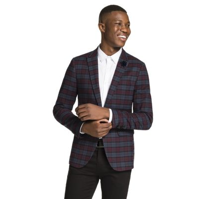 Fashion 4 Men - yd. Warner Check Blazer Shiraz M