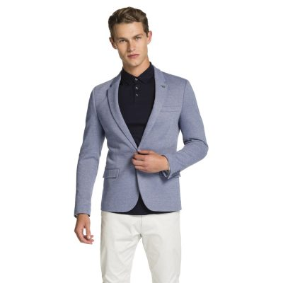 Fashion 4 Men - yd. Zappa Stretch Blazer Light Blue Xxxl