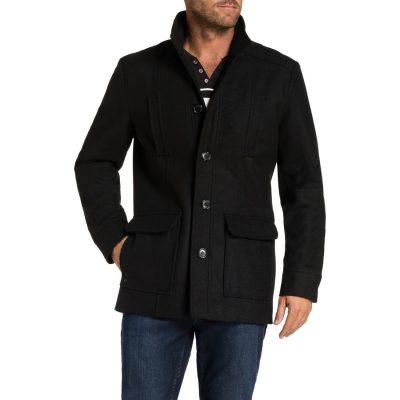 Fashion 4 Men - Tarocash Arden Wool Blend Coat Black S