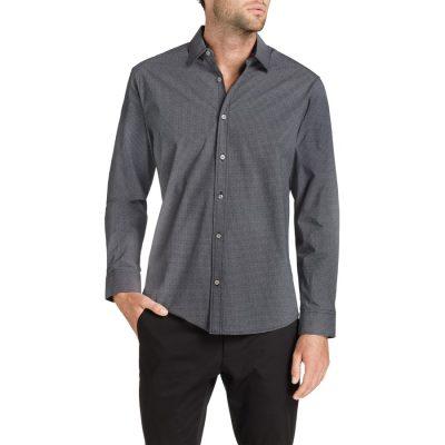 Fashion 4 Men - Tarocash Balcorne Print Shirt Black Xxl