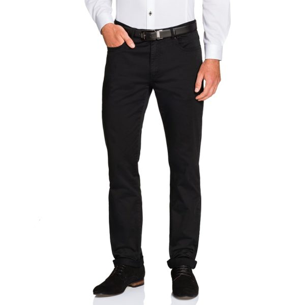 Fashion 4 Men - Tarocash Benny Stretch 5 Pkt Pant Black 44