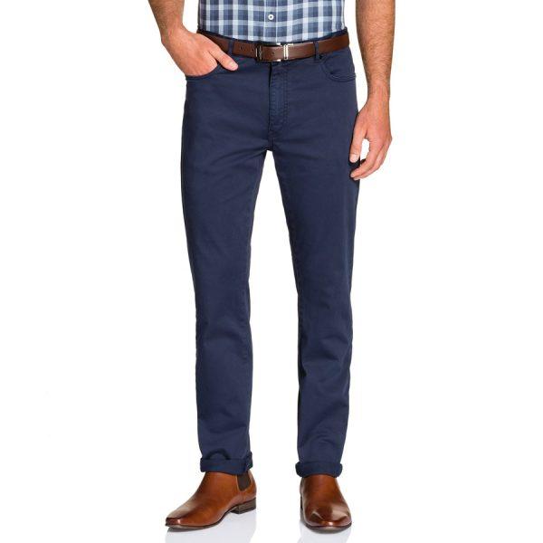 Fashion 4 Men - Tarocash Benny Stretch 5 Pkt Pant Blue 35