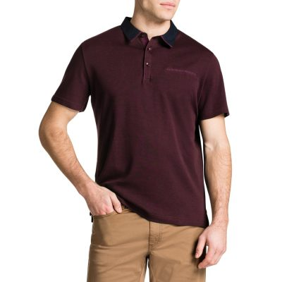 Fashion 4 Men - Tarocash Brighton Polo Burgundy Xxxl