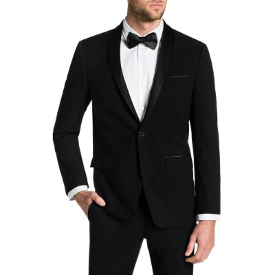 Fashion 4 Men - Tarocash Cole Shawl Tuxedo Jacket Black S