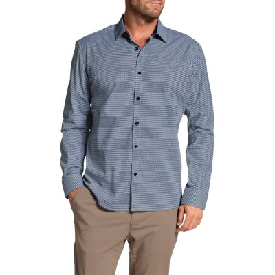 Fashion 4 Men - Tarocash Crescent Print Shirt Blue L