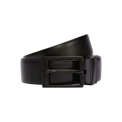 Fashion 4 Men - Tarocash Dante Reversible Prong Belt Black/Brown 44