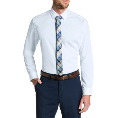 Fashion 4 Men - Tarocash Dominic Dress Shirt White S