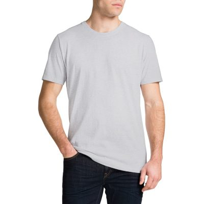 Fashion 4 Men - Tarocash Essential Crew Neck Tee Grey Marle L